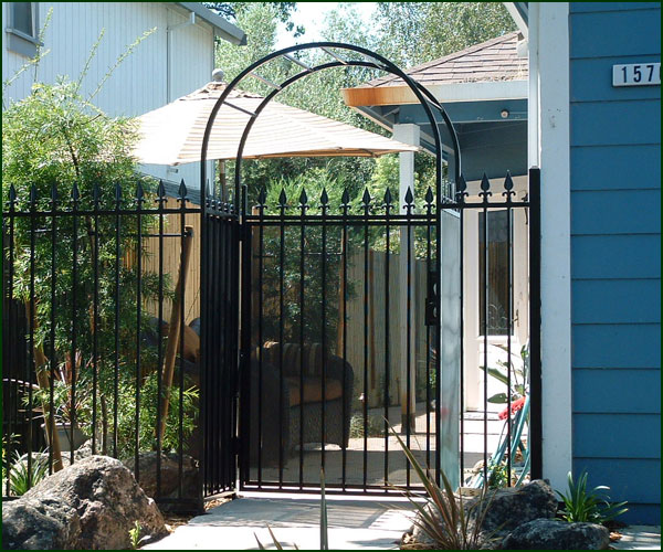 Entry Courtyard Gates Elk grove